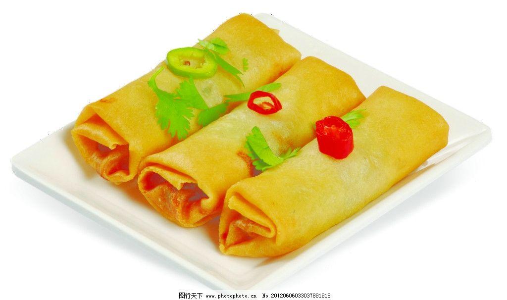 中式糕点春卷图片