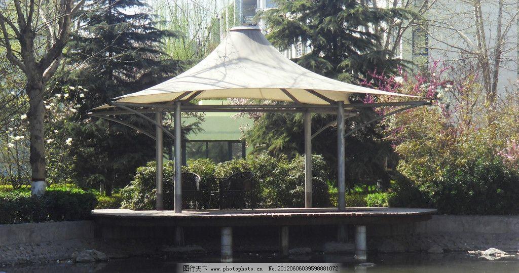 绿化 小区景观 亭子 水榭 惬意 休息 凉亭 欧式 休闲 现代 园林建筑