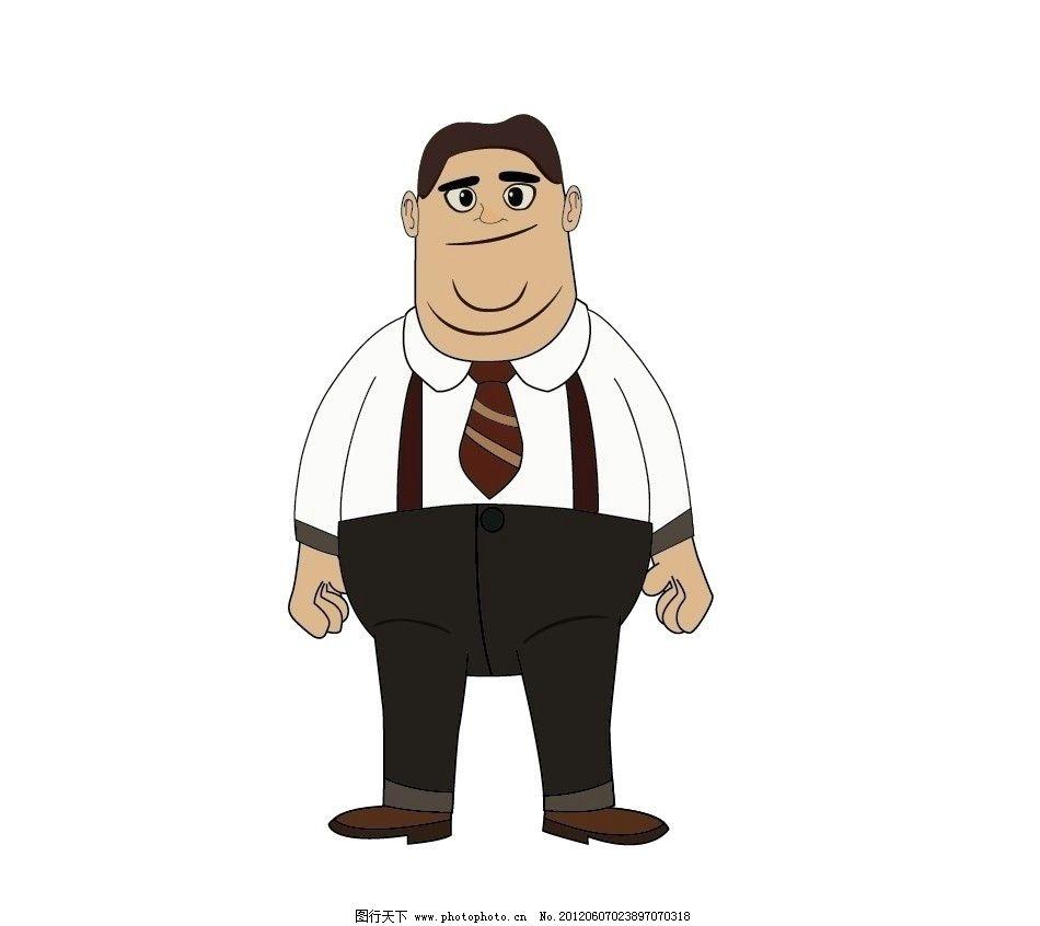 卡通人物 男胖子图片