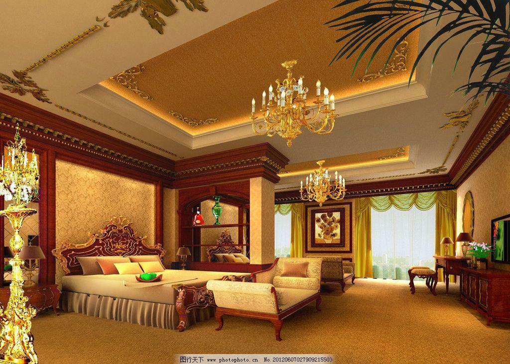 欧式卧室 主卧 欧式主卧 高级卧室 欧式卧室背景 卧室背景 室内装修