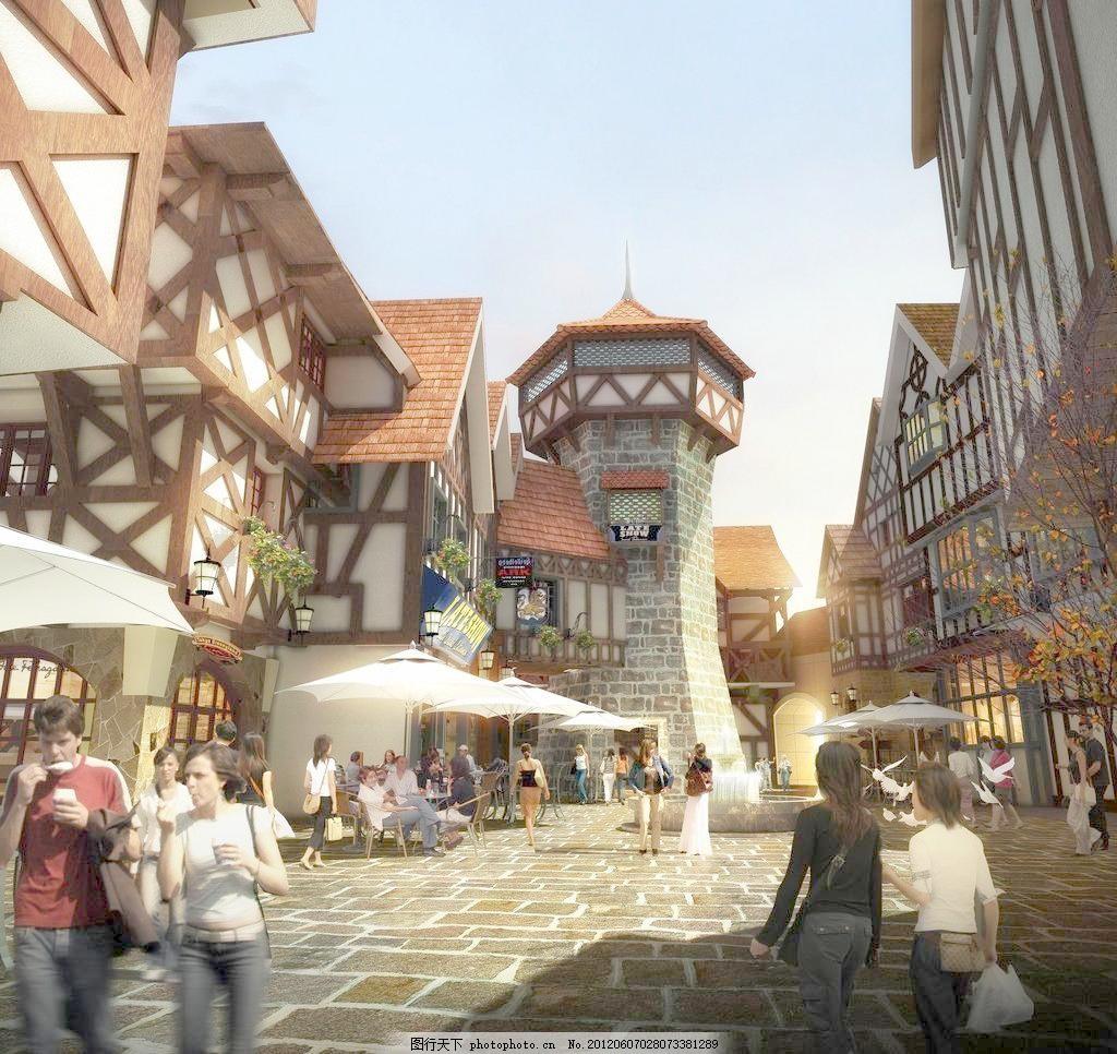 欧式小镇设计 欧式小镇设计设计素材 欧式小镇设计模板下载 坡屋顶