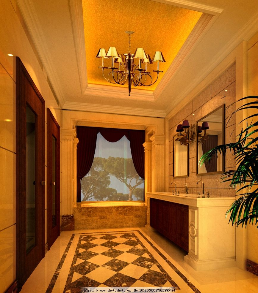 欧式装修 样板房 室内设计 环境设计 设计        欧式卫生间 豪华