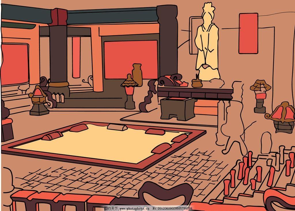 寺庙 古代 古代寺庙 拜神 香火 古寺 古代物品 家居家具 建筑家居