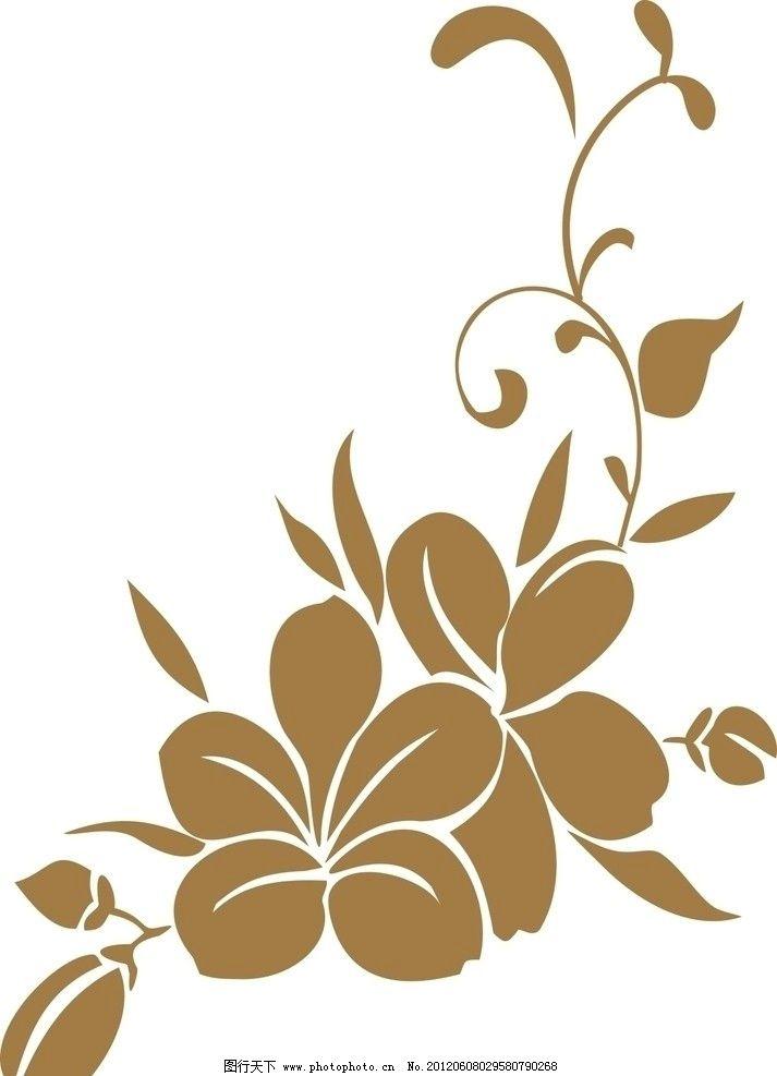 五叶花纹 花瓣 藤蔓 移门 底纹 矢量素材 广告设计 矢量 cdr