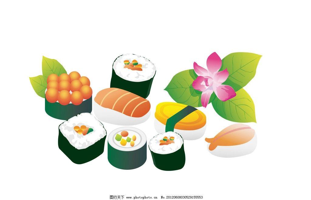 手绘吃寿司卡通图片