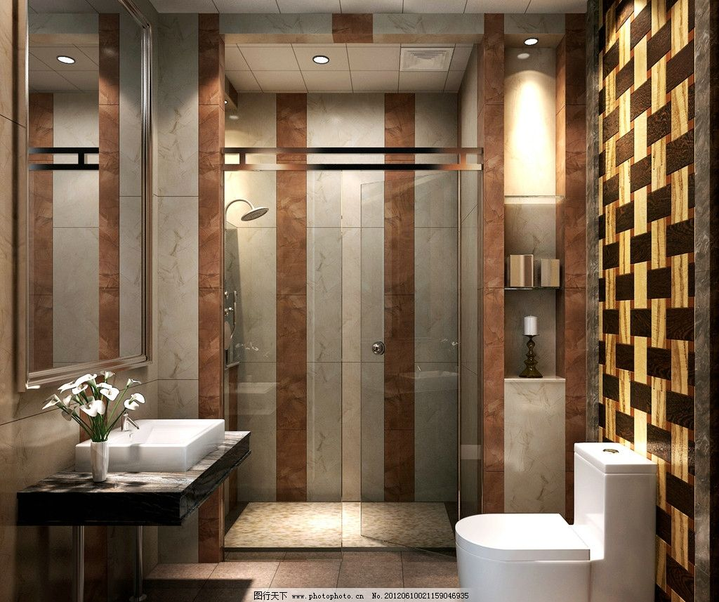 卫生间图片_3d作品设计_3d设计_图行天下图库