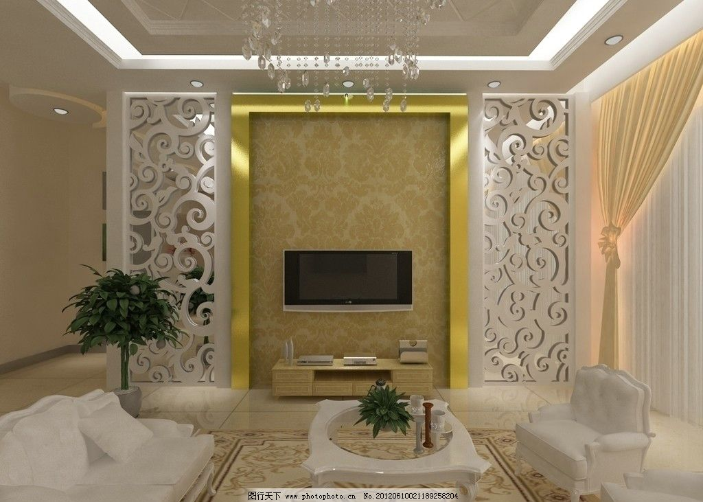 欧式客厅 客厅 客厅效果图 沙发 枕头 地毯 餐桌椅 电视机 电视机柜 电视背景墙 茶几 花 吊灯 射灯 白镜 3d效果图 3d源文件 室内设计 3d设计 室内模型 3D设计模型 源文件MAX 源文件 MAX