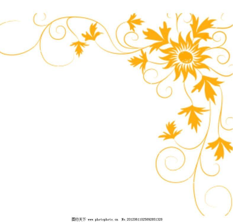 边角藤蔓花纹笔刷 笔刷 花纹 手绘 花 特效笔刷 ps笔刷 源文件 abr