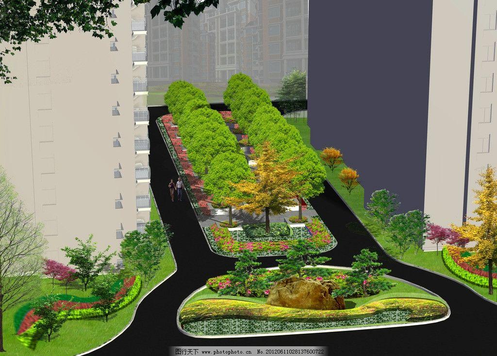 小区入口景观设计图片