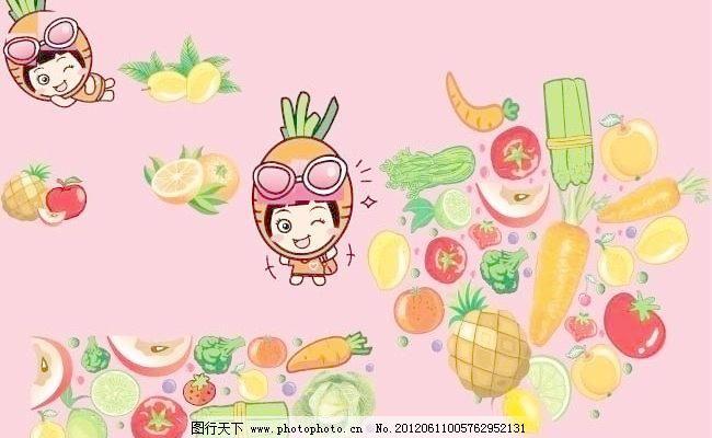 卡通水果人物图片