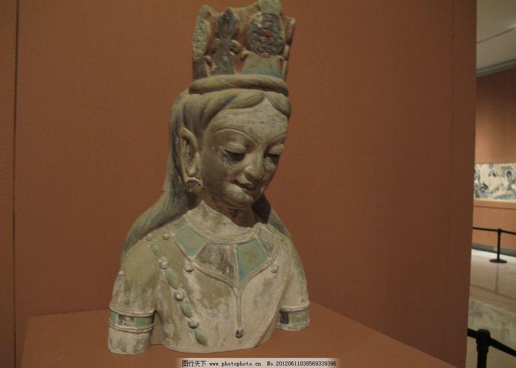 敦煌女雕塑头像图片
