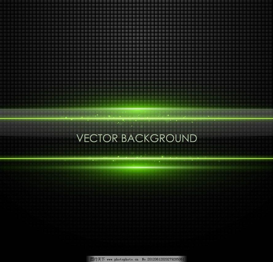 背景 黑色 綠色 動感 光線 線條 金屬 質感 透明 水晶 玻璃 邊框 時尚