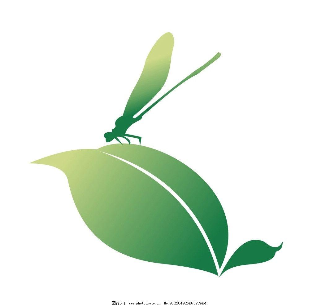 绿叶蜻蜓 绿叶 蜻蜓 田园 蜻蜓设计 田园风光 自然景观 矢量 cdr