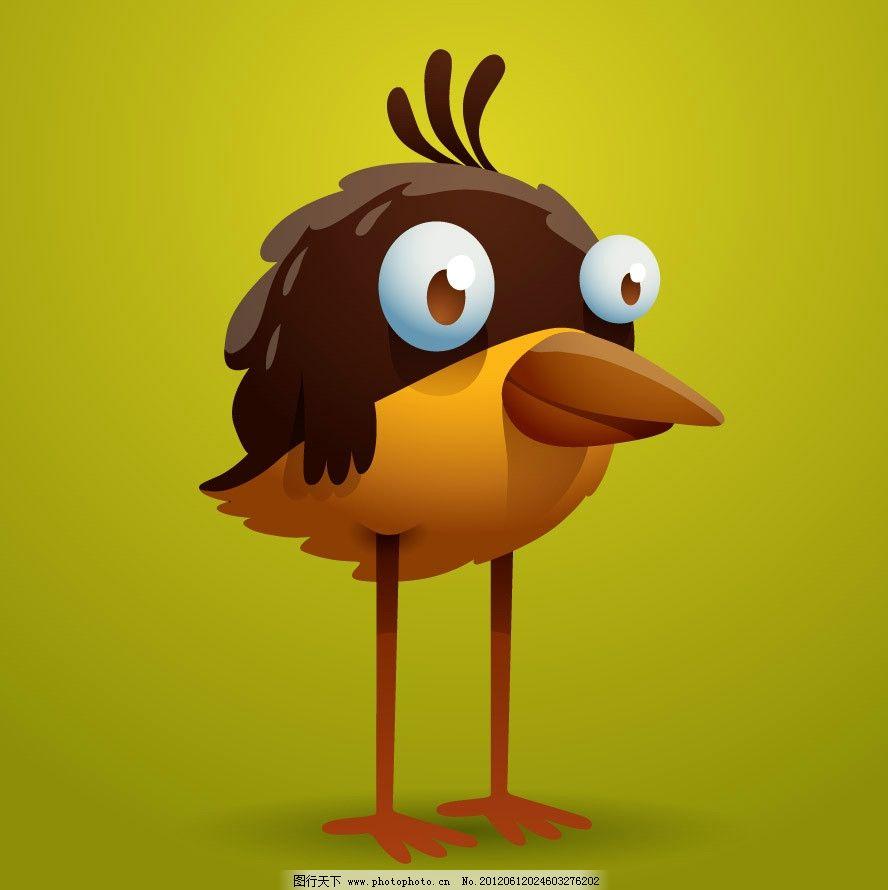 可爱卡通小鸟表情图片