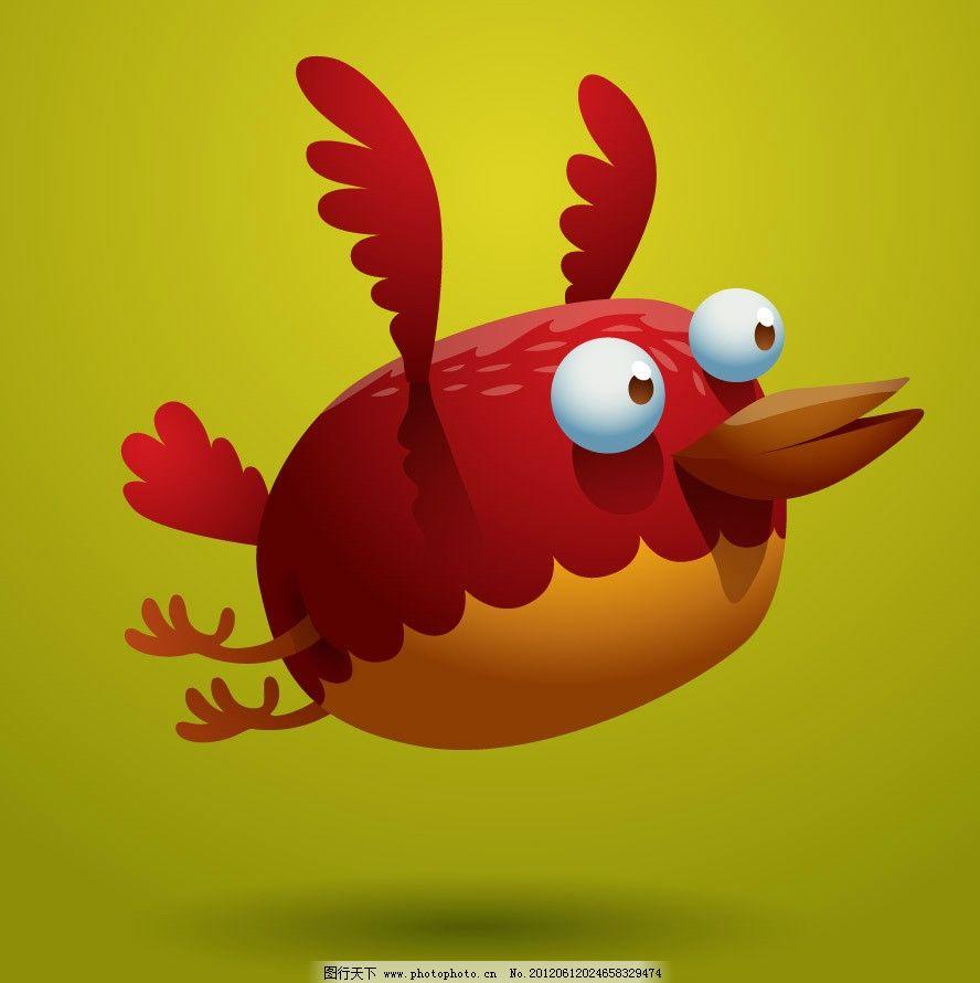 可爱卡通小鸟表情 有趣 滑稽 手绘 矢量 鸟类