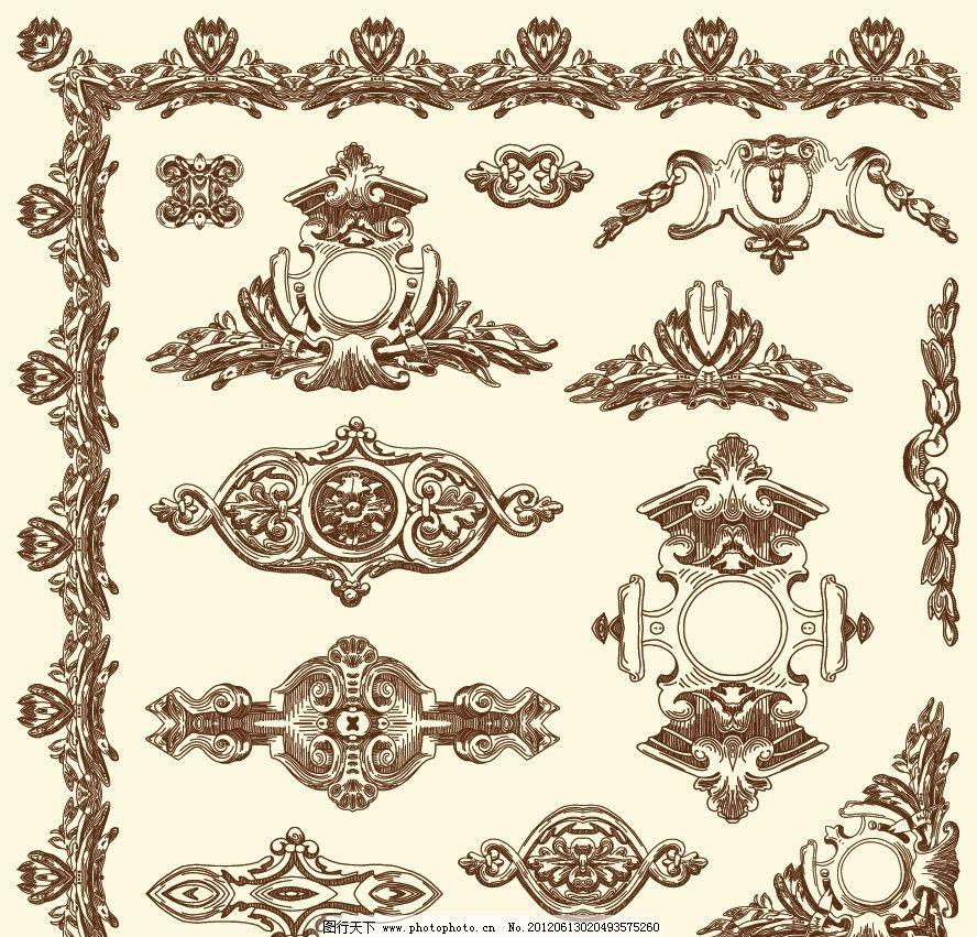 花纹 花边 边框 边角 时尚 潮流 梦幻 手绘 欧式建筑 欧式花纹 古典