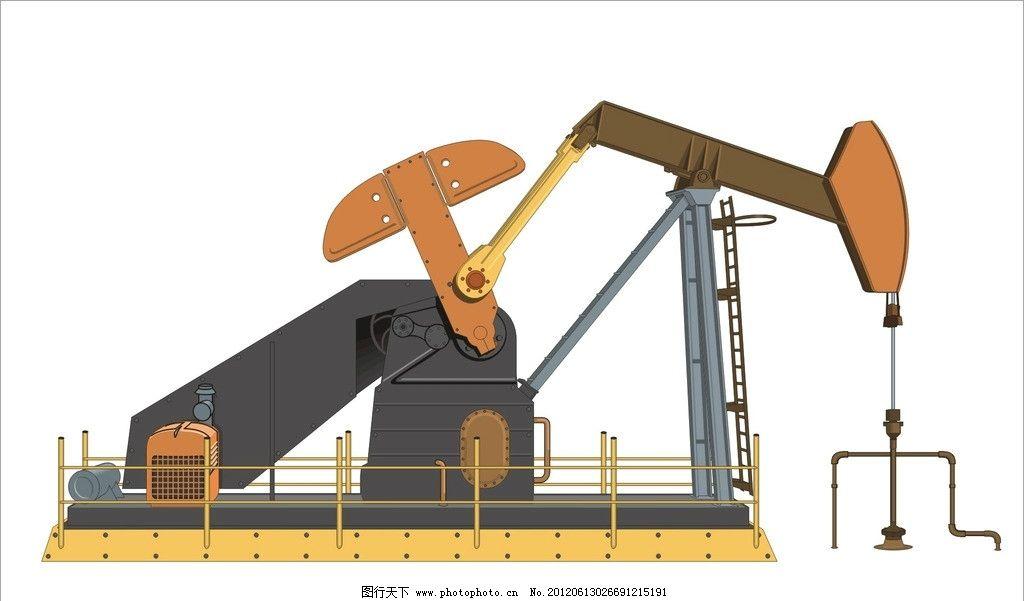 抽油机 磕头机 油田 cdr 矢量 现代工业 现代科技 cdr