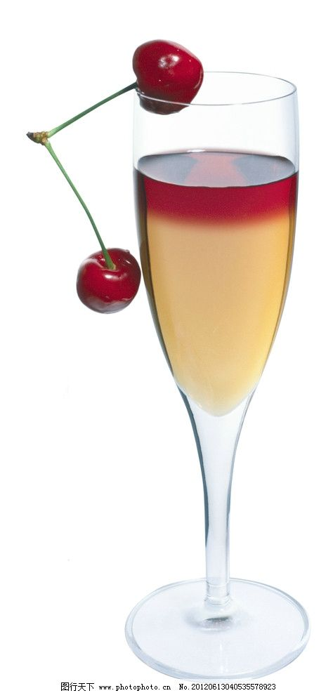 果汁 水果汁 樱桃果汁 鲜榨果汁 饮品 玻璃杯 饮料 夏日饮品