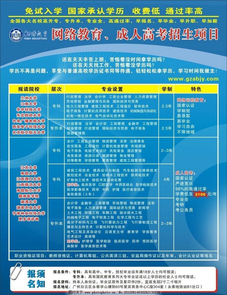 成人教育传单 成人教育 传单 培训 暑假 dm宣传单 广告设计 矢量 cdr