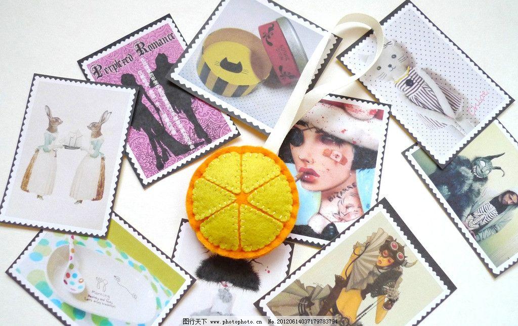 不织布玩具 邮票贴纸图片