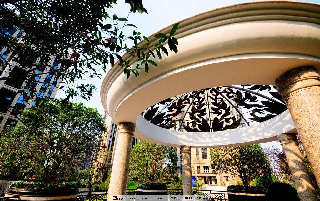 欧式小亭 豪宅 石材 花坛 欧式园林 小高层 石纹 欧式穹顶 雕花园亭
