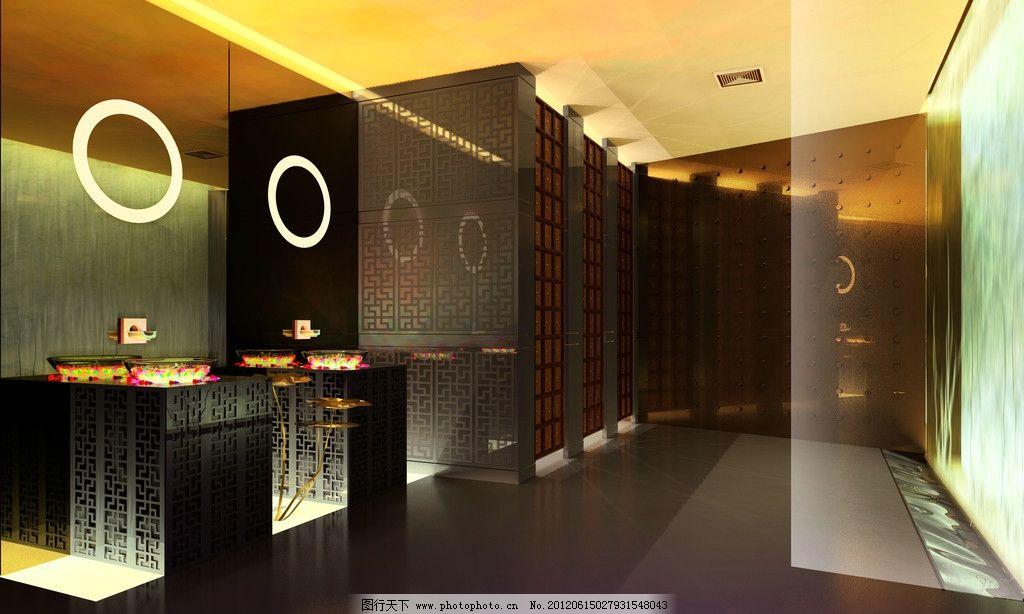ktv卫生间 ktv效果图 室内设计