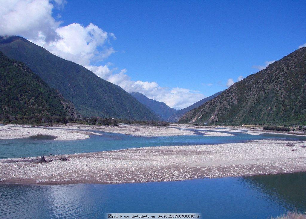 高原风光 高原 高山 河流 高山流水 山川 山脉 森林 群山 蓝天白云