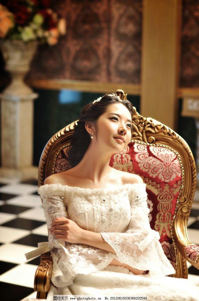 欧式婚纱 美女 人物摄影 人物图库 摄影 婚纱样片 300dpi jpg