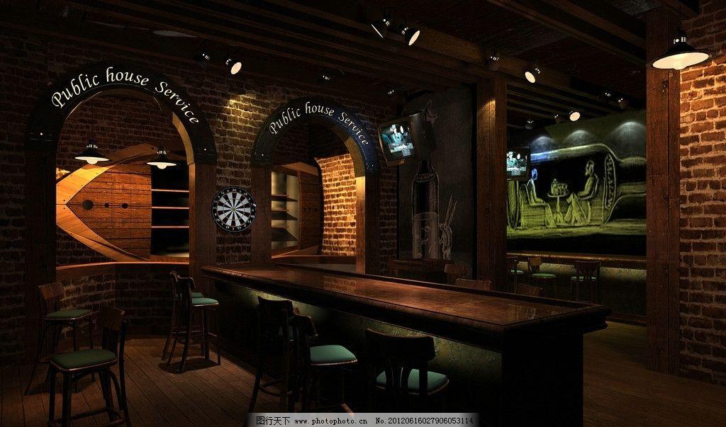 酒吧 灯光 3d设计 吧台 室内设计 环境设计 设计 72dpi jpg
