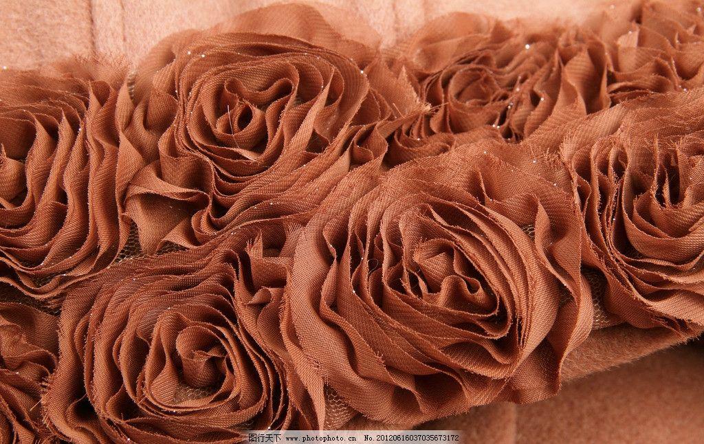 褐色本布卷花 本布卷花 花朵 玫瑰 手工制作 工艺 装饰 聚酯纤维 氨纶 布料纹理 布料 布料底纹 布料背景 织物纺理 纺织品 织物 纹理 纺织 布匹 材质 质感 摄影 生活素材 生活百科 350DPI JPG