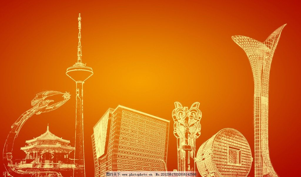 建筑物线条图片