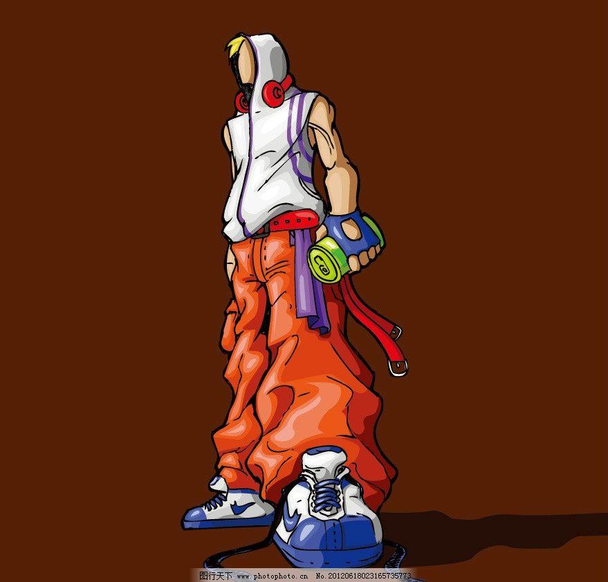 手绘 水墨 青年 人物 帅哥 男孩 青春 活力 时尚 梦幻 矢量 人物主题