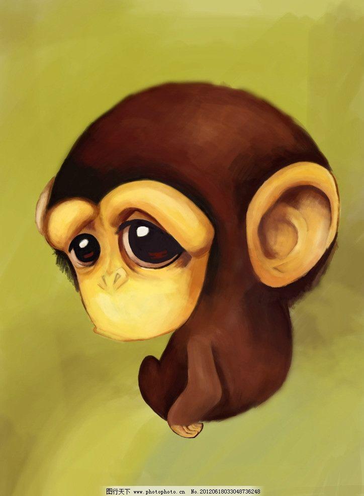 小猩猩 可爱 猩猩 q版猩猩 卡通 可爱动物 psd分层素材 源文件 300dpi