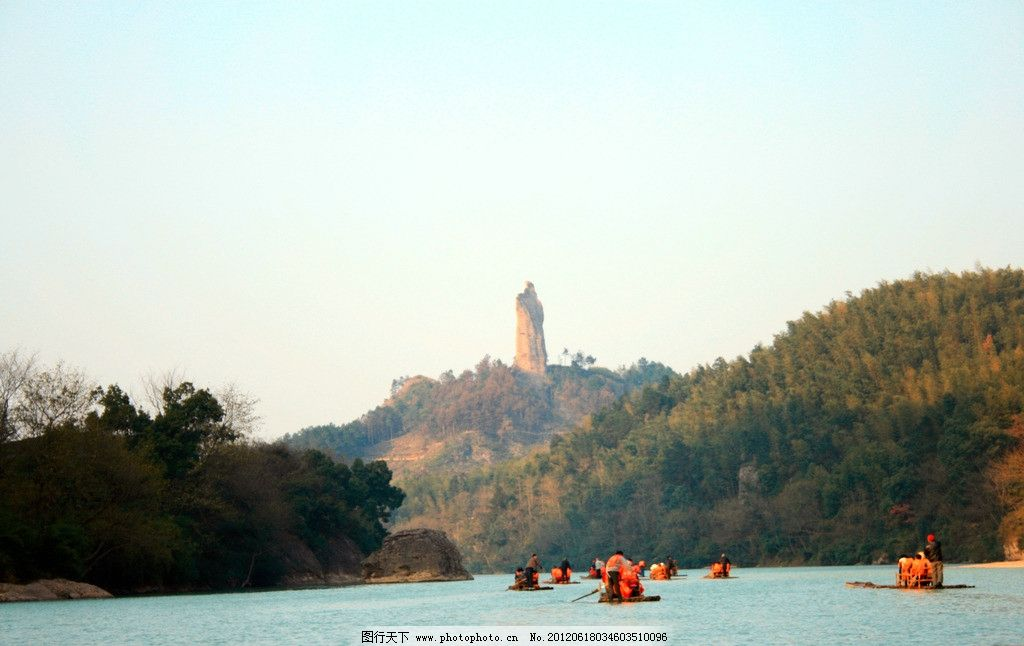 湖南崀山 旅游 风景名胜 山 水 风景 摄影 划船 将军石 自然景观 72