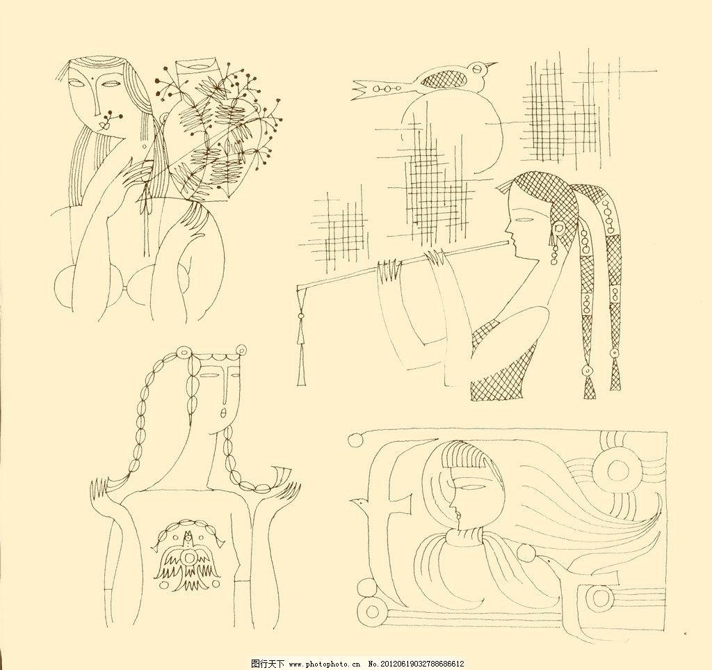 人物装饰画图片