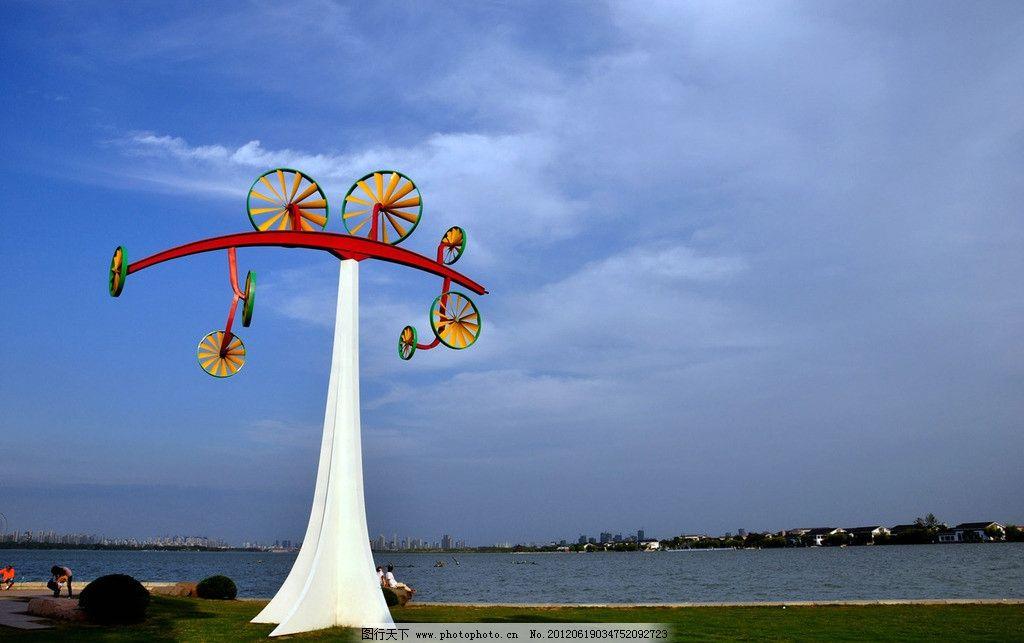 金鸡湖风景图片