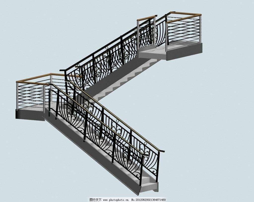 钢结构楼梯 楼梯 3d模型
