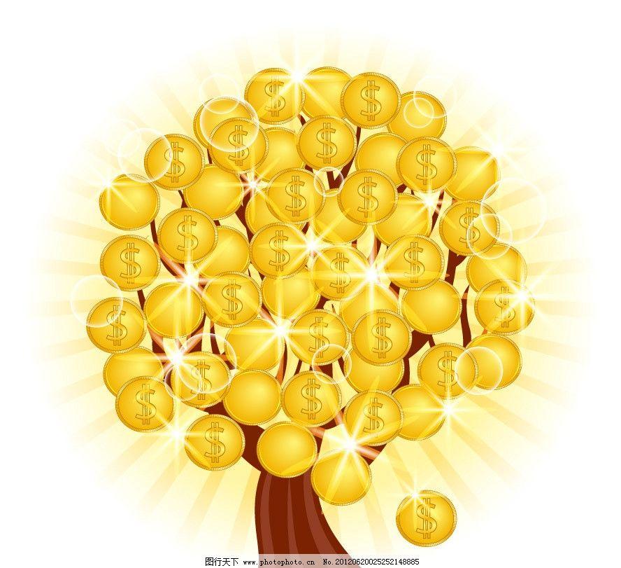 金色 摇钱树