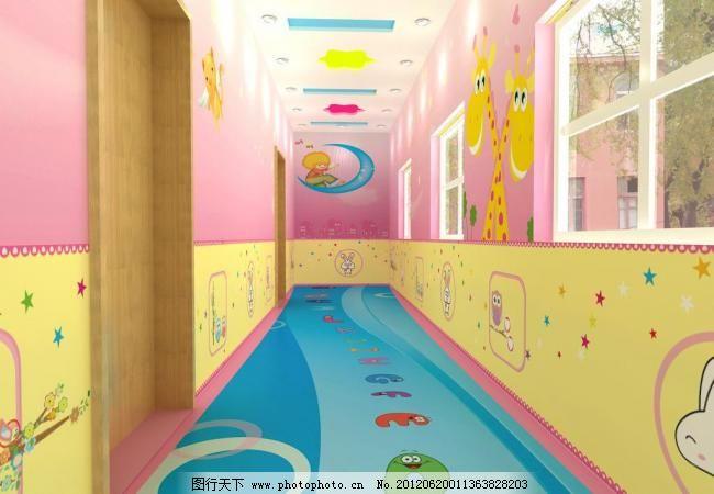幼儿园粉色空间图片_室内设计_装饰素材_图行天下图库
