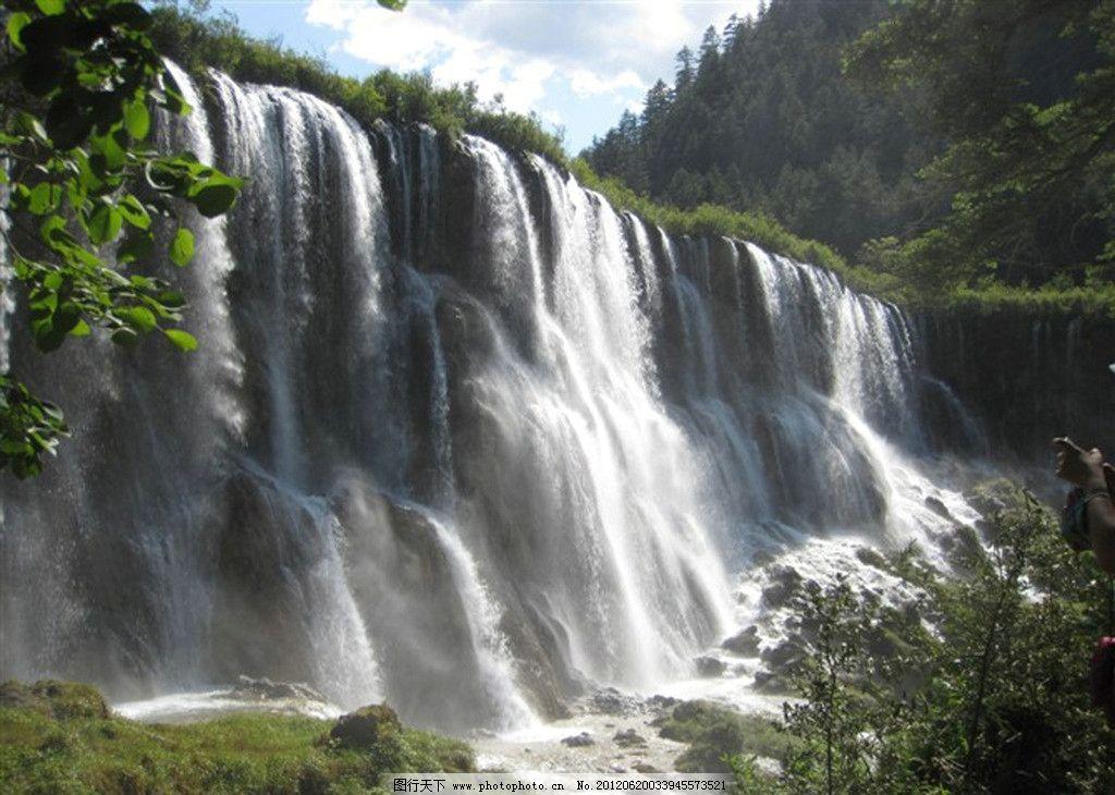 瀑布 山水风景图片