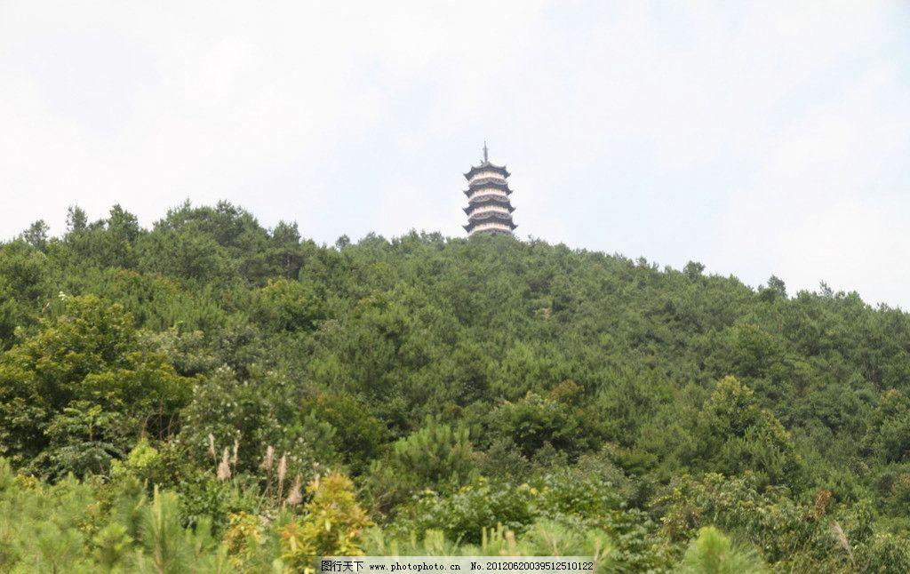 景观塔 寺庙佛塔 山体塔建筑
