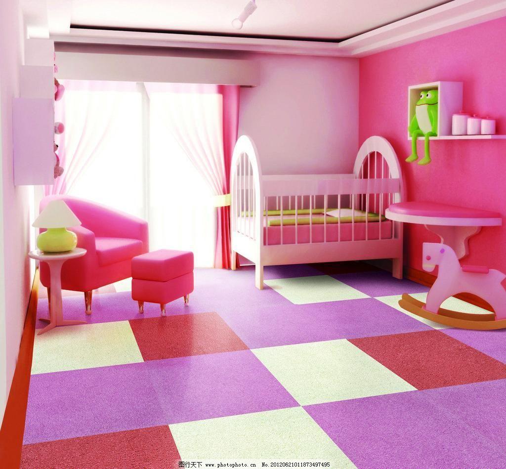 儿童房 背景 儿童房间 豪华卧室 家居生活 卡通房间 欧式卧室