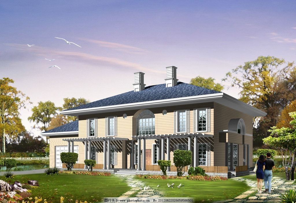 新欧洲庄园风格别墅图片