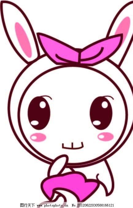 可爱的矢量图兔子 卡通兔子