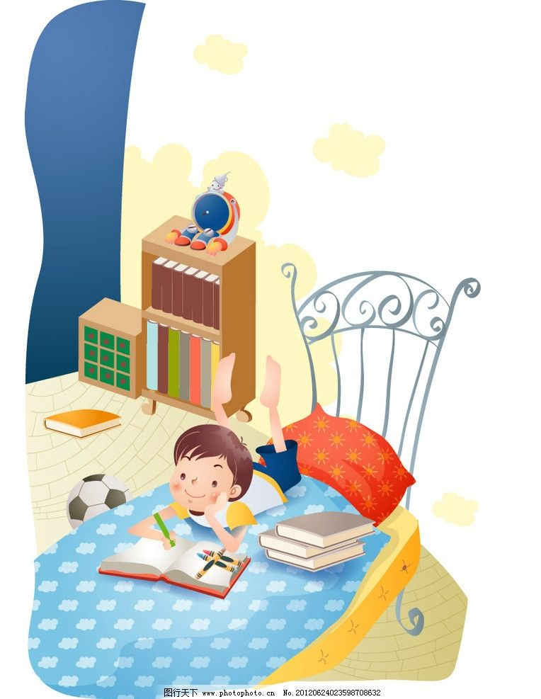 儿童暑假生活做作业图片