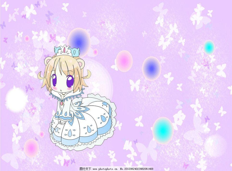 可爱女生 可爱 女生 卡通 公主 蝴蝶 淡紫色 其他人物 矢量人物 矢量