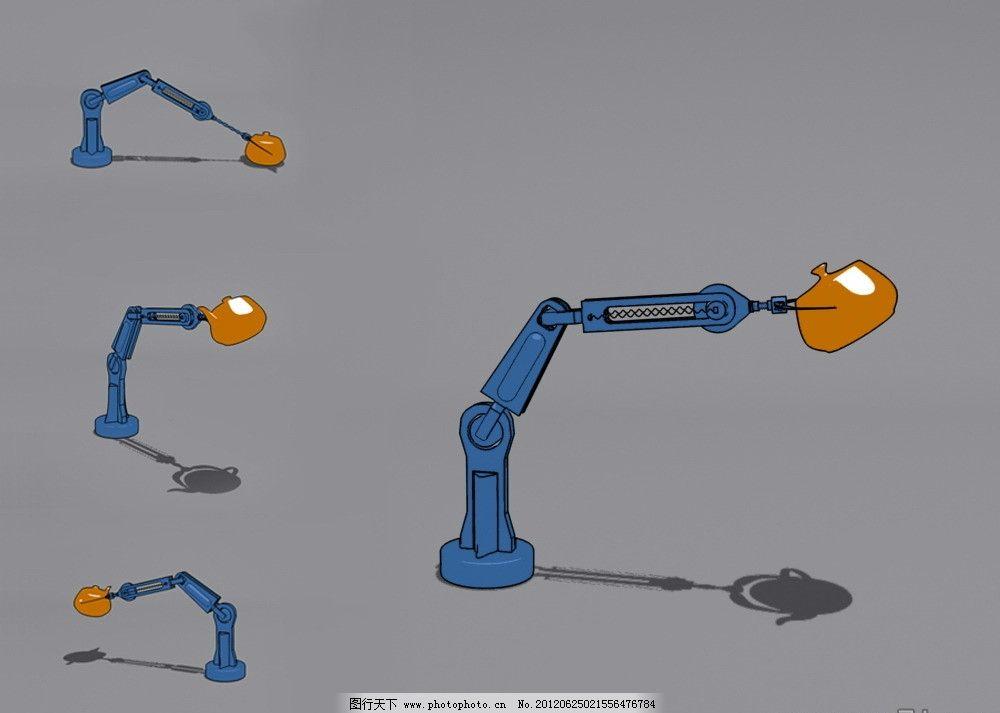机械手臂3d模型动画图片