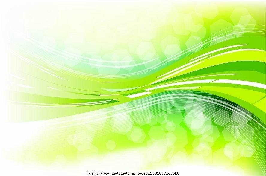 线条 圆点 流畅 朦胧 绿色 环保 生态 手绘 卡片 时尚 梦幻 背景 底纹图片