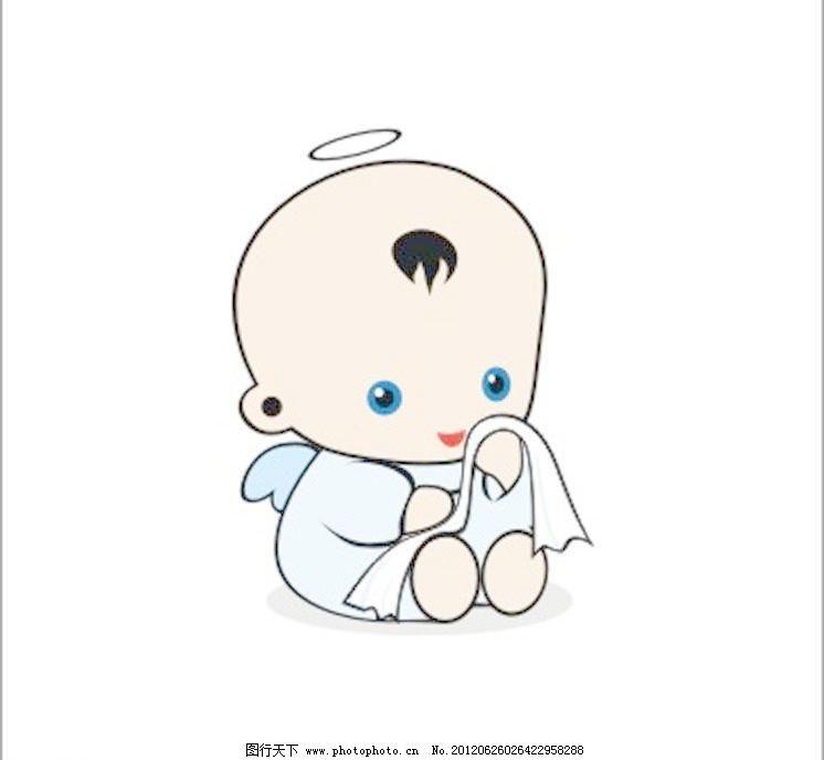 婴儿 孩子 卡通娃娃 卡通小孩 卡通婴儿 卡哇伊 可爱 毛巾 其他矢量