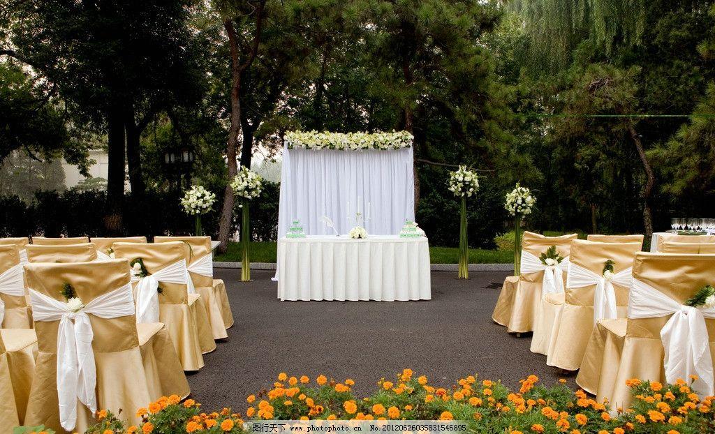 婚礼现场布置图片_树木树叶_生物世界_图行天下图库